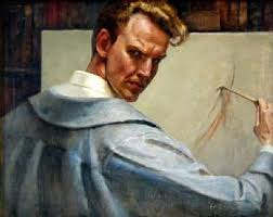 Image result for maxfield parrish self portrait