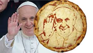 Image result for POPE FRANCIS PIZZA