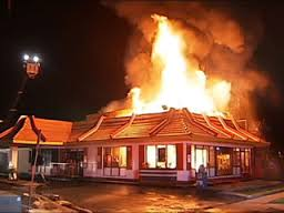 Image result for mcdonalds on fire